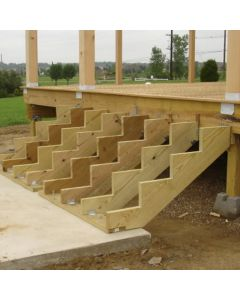 Decking step stringers (stair-makers)