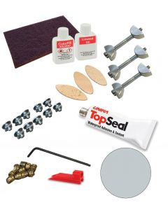 Zenith Compact Laminate Fixing Kit - Cloudy Cement
