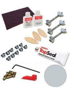 Zenith Compact Laminate Fixing Kit - Woodstone Grey