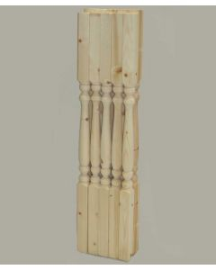 Solid Pine 41mm Turned Stair Spindle Value Pack.
