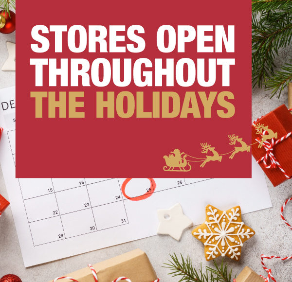 Stores Open Throughout The Holidays