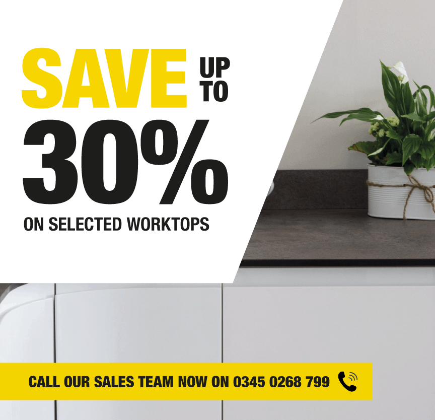 Save 30% On Selected Worktops