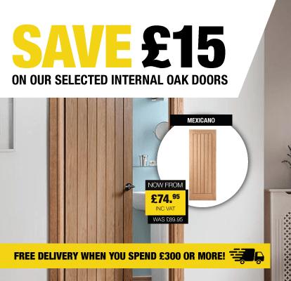 Save £15 on selected oak doors