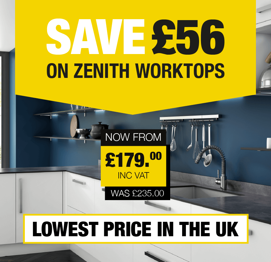Save £56 on Zenith Worktops