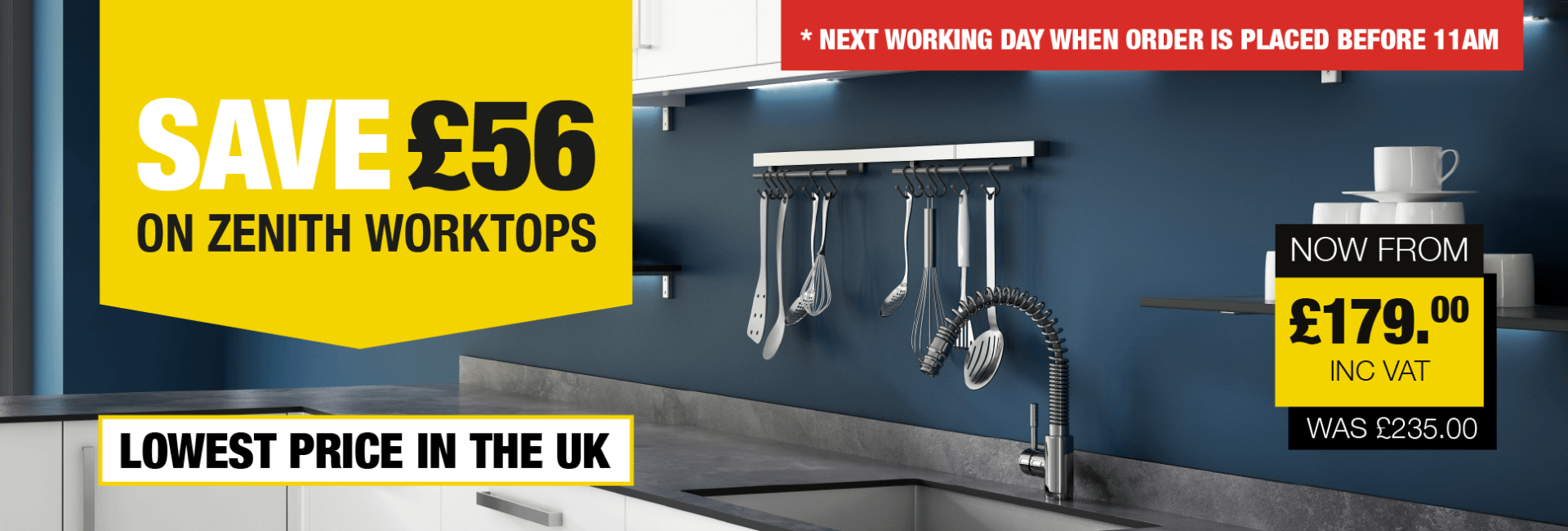 Save £56 on Zenith Worktops