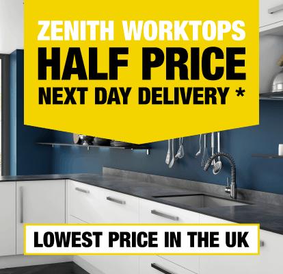 Zenith Worktops Half Price Next Day Delivery
