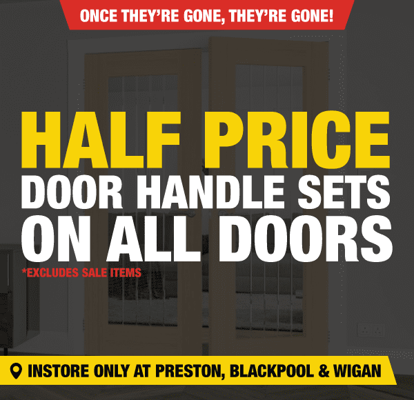 Half Price Door Handle Sets On All Doors