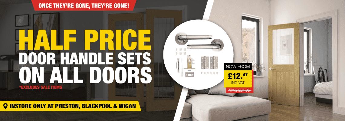 Half Price Door Handle Sets On All Doors