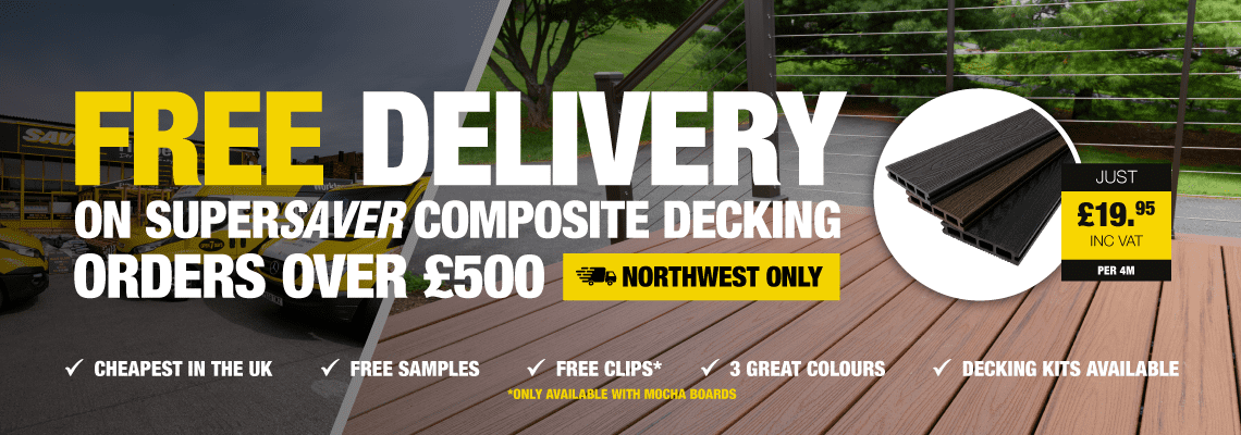 Free Delivery On Composite Super Save Decking Boards
