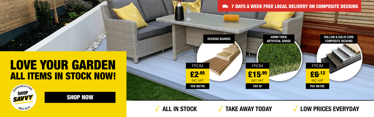 Up to 6M Timber Decking Boards