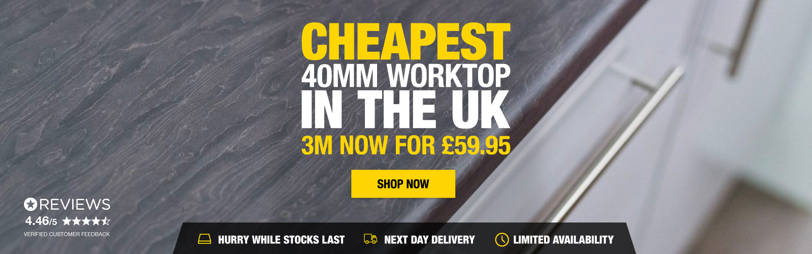Cheapest 40MM Worktop In The UK
