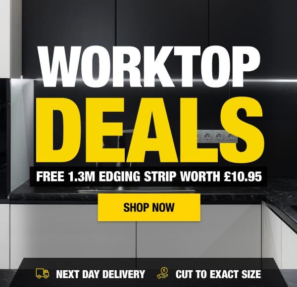 Worktop Deals - Free 1.3m edging strip worth £10.95