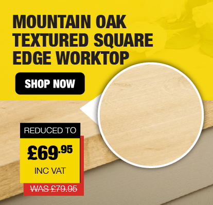 3 Metre Mountain Oak Textured 40mm Square Edge Worktop