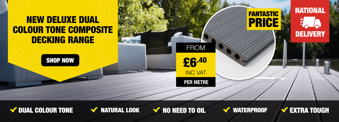 New Deluxe Dual Colour Tone Composite Decking Range