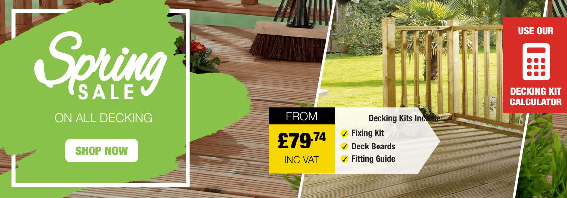 Spring Sale On All Decking