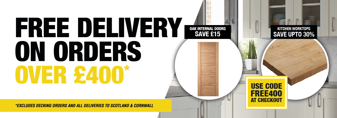 Free Delivery on orders over £400