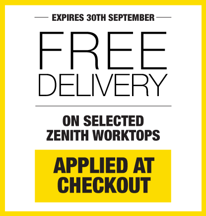 Free Delivery On Selected Worktops