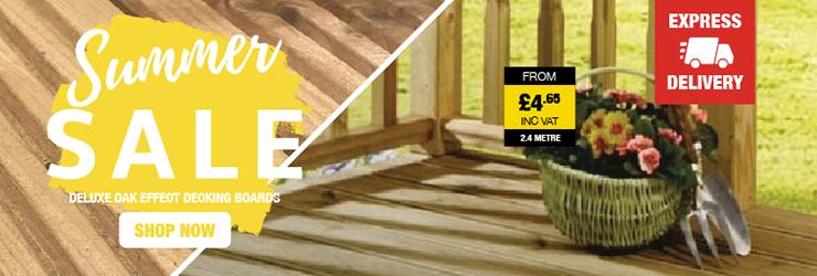 Summer Sale On Oak Effect Decking Boards