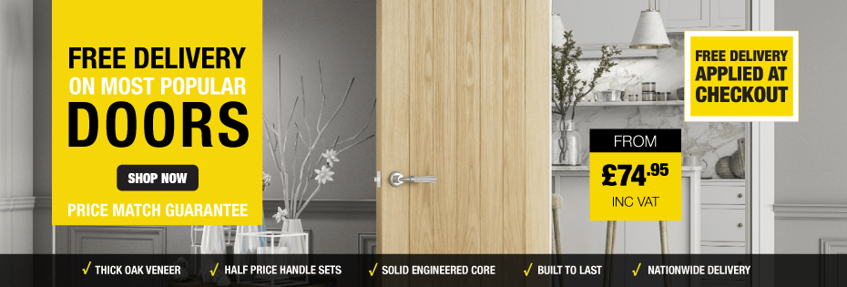 Free Delivery On Most Popular Doors Orders Over £300