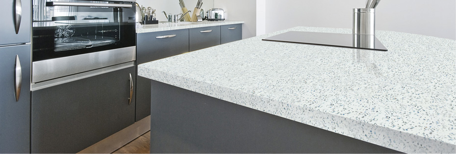 Square Edge Strass Blanc