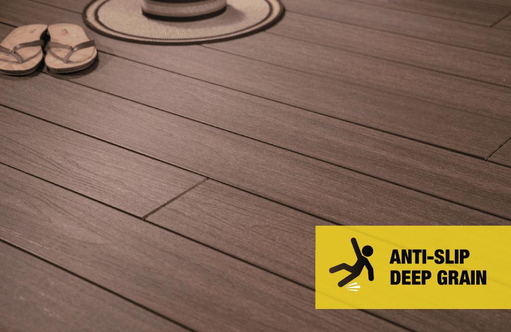 Anti Slip Composite. 3D 'Real Wood' grain finish