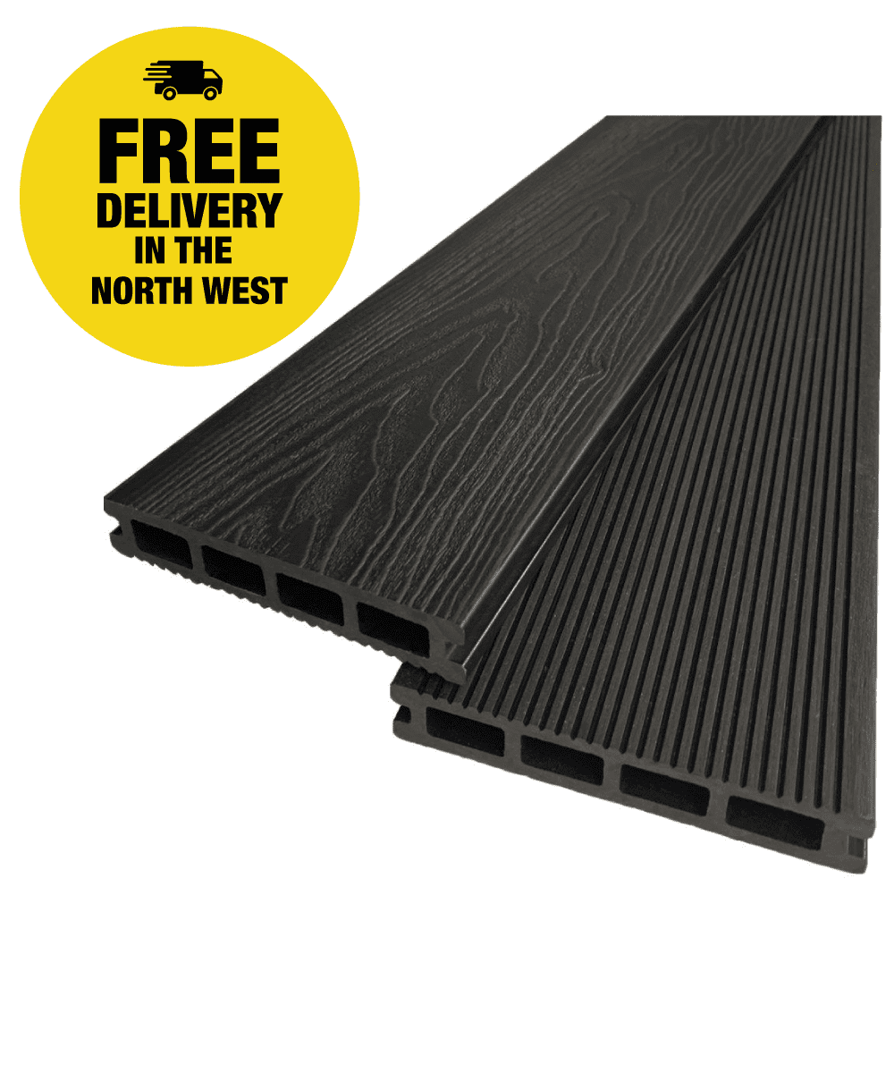 Dark Grey Composite Decking Boards