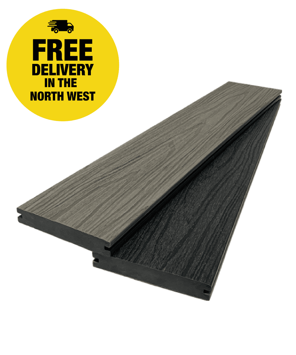 UltraCore Charcoal / Grey Oak Composite Decking Boards