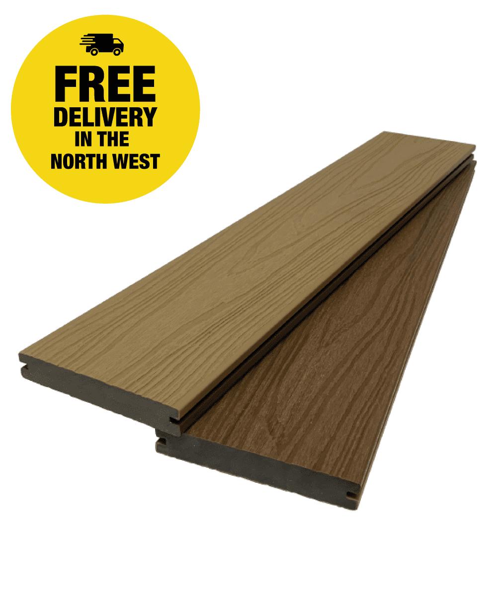 UltraCore Walnut / Oak Composite Decking Boards