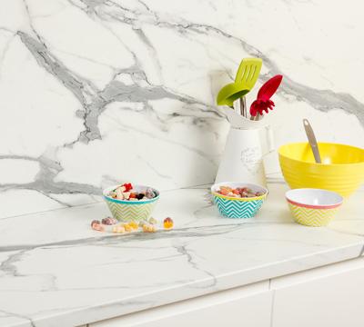 marble effect kitchen worktops